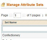 Magento Product Attribute Sets