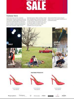 Responsive footwear bootstrap website