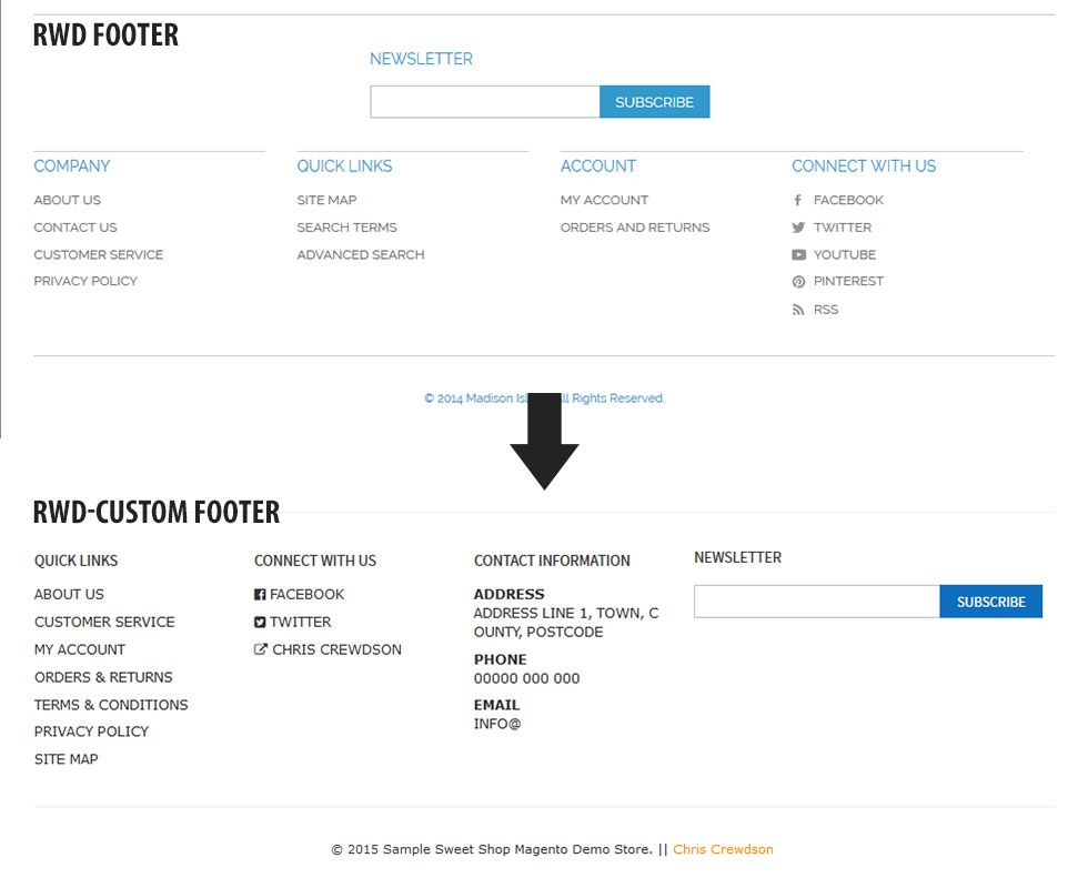 rwd - compare footers