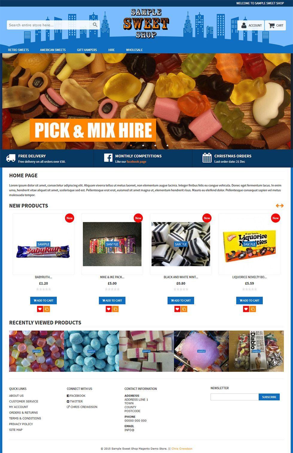 rwd custom home page